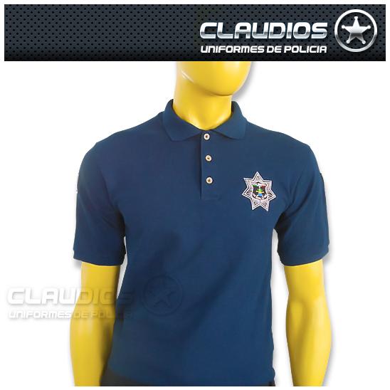 Playera tipo Polo Bordada – Uniformes de Policía Claudios 46c6baa5441c3